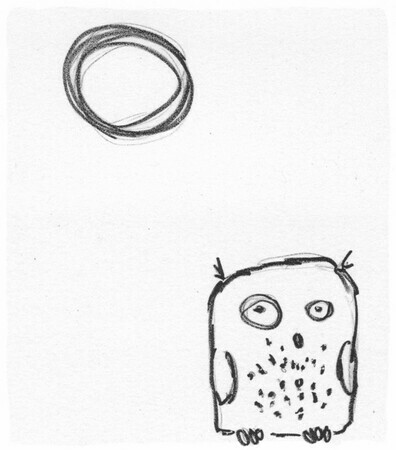 Ootpik #1 (Not a Night Owl) - Amie Roman - Printmaker - Artist in Nature